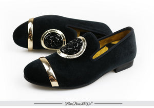 Luxury Handcrafted Velvet Dress Shoes