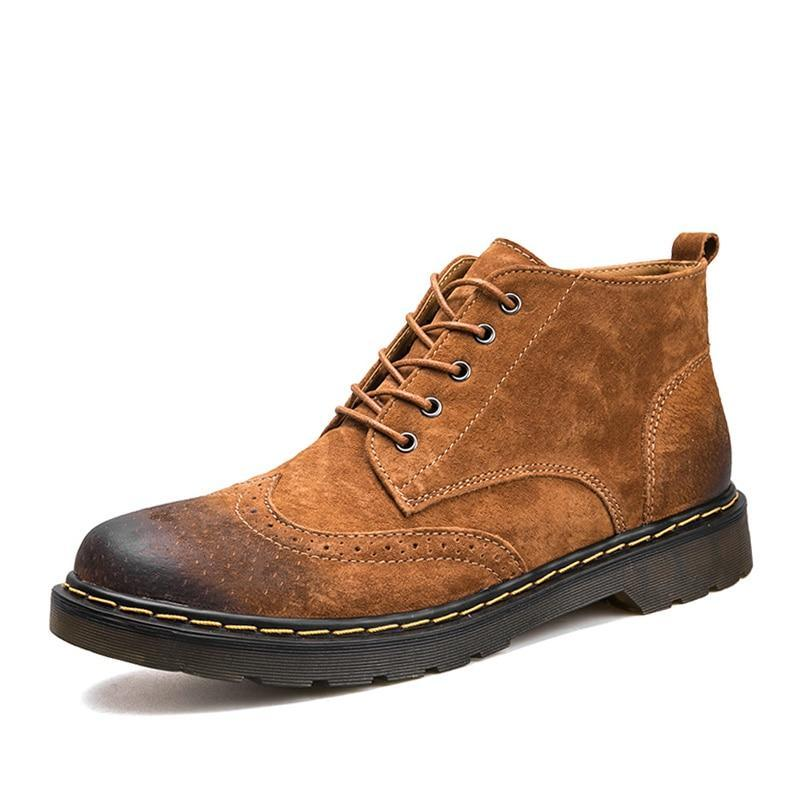 Vintage Genuine Leather Winter Boots - 3 Colors