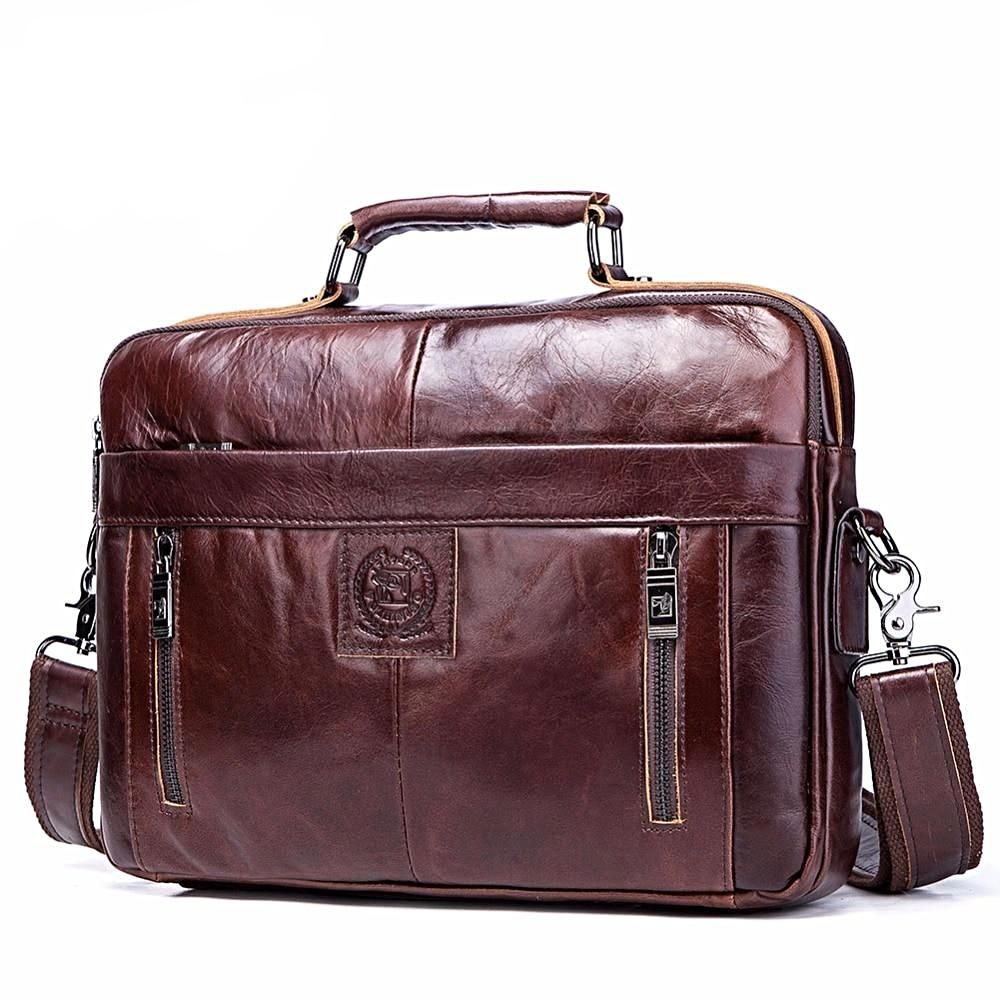 Luxury Genuine Leather Business Briefcase/Shoulder Bag