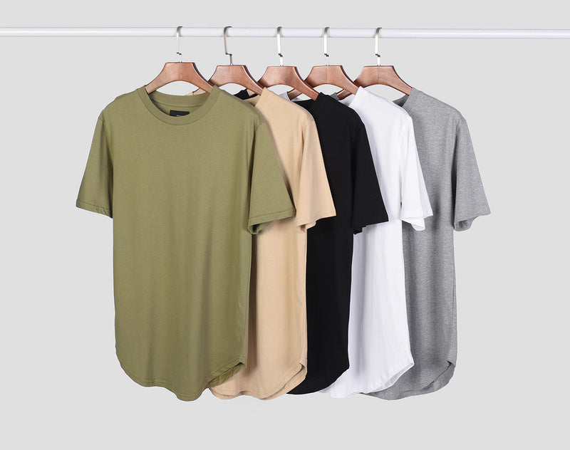 Premium Cotton Long T-Shirt - 5 Colors