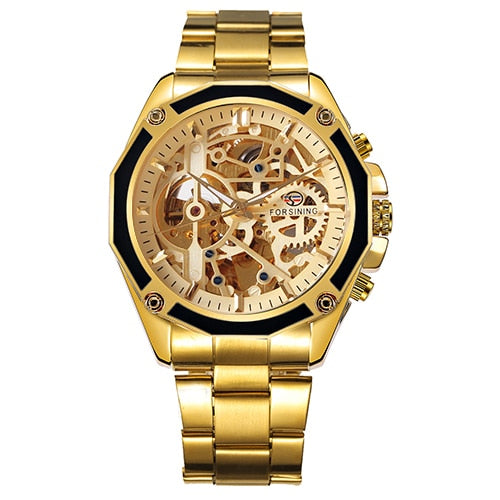 Luxury 3D Bezel Automatic Skeleton Watch
