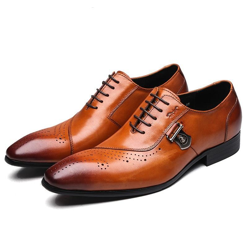 Italian Luxury Leather Brogue Shoes
