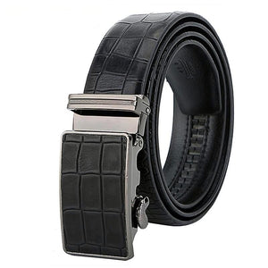 Luxury Crocodile Pattern Leather Belt