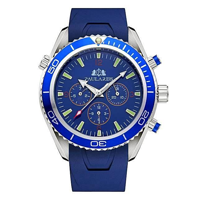 Luxury Automatic Bond Chrono Watch - Rubber Strap