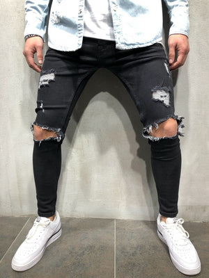 Black Ripped Knee Out Skinny Jeans