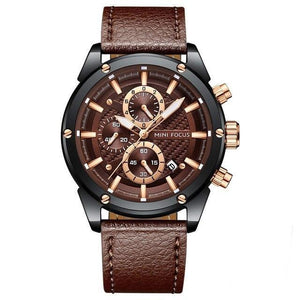 Luxury Leather Sports Watch