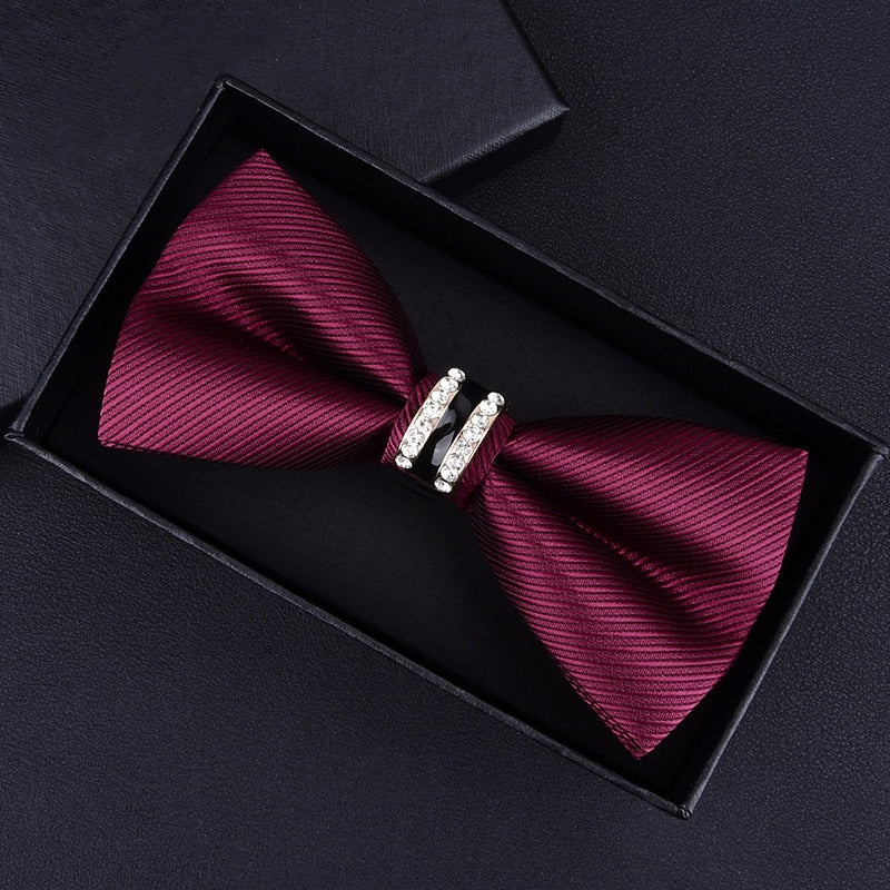 Elegant Tuxedo Metal/Crystal Bow Ties - 42 Colors