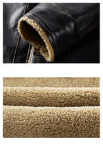 Luxury Leather Fleece Fur Jacket