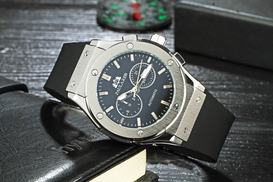 Luxury Automatic Sports Watch - Rubber Strap