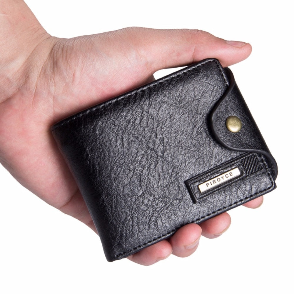 Leather Wallet with Zipper/Coin Pocket