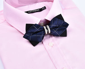 Luxury Crystal/Metal Decoration Bow Ties - 26 Colors