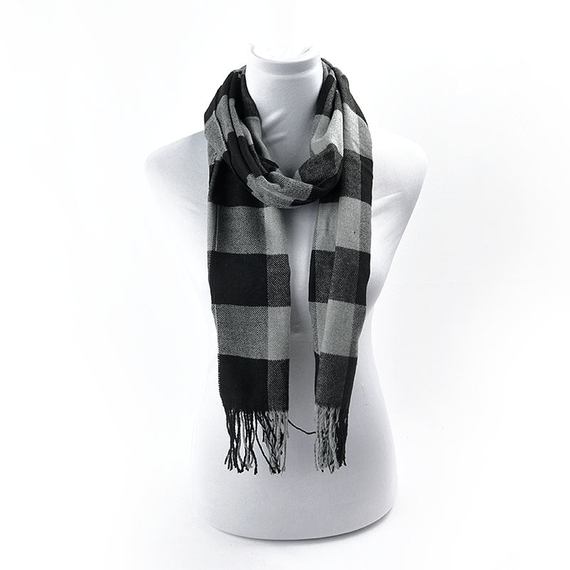 Cotton Plaid Scarf