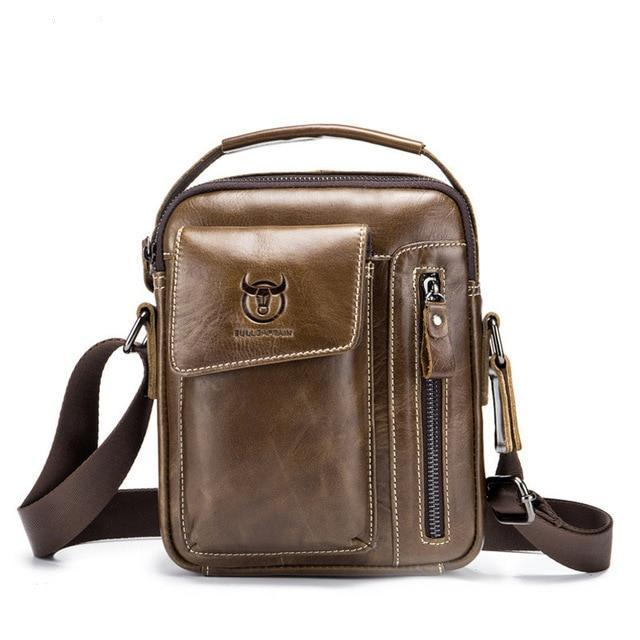 Luxury Genuine Leather Crossbody Bag - 4 Colors