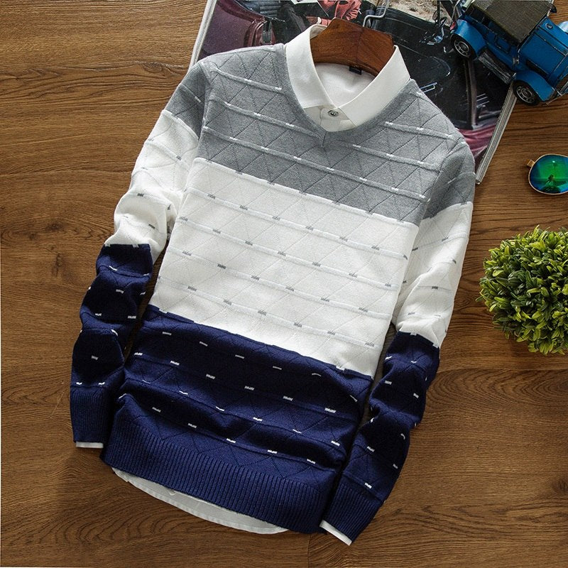 Premium V-Neck Ribbed Sweater