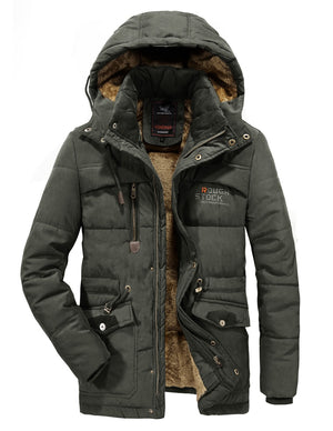 Premium Fleece Fur Hooded Parka