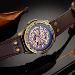 DE CRU Automatic Skeleton Vintage Watch