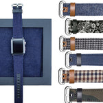 Luxury Denim/Leather Apple Watch Band