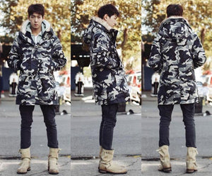 Luxury Camouflage Winter Parka/Down Jacket