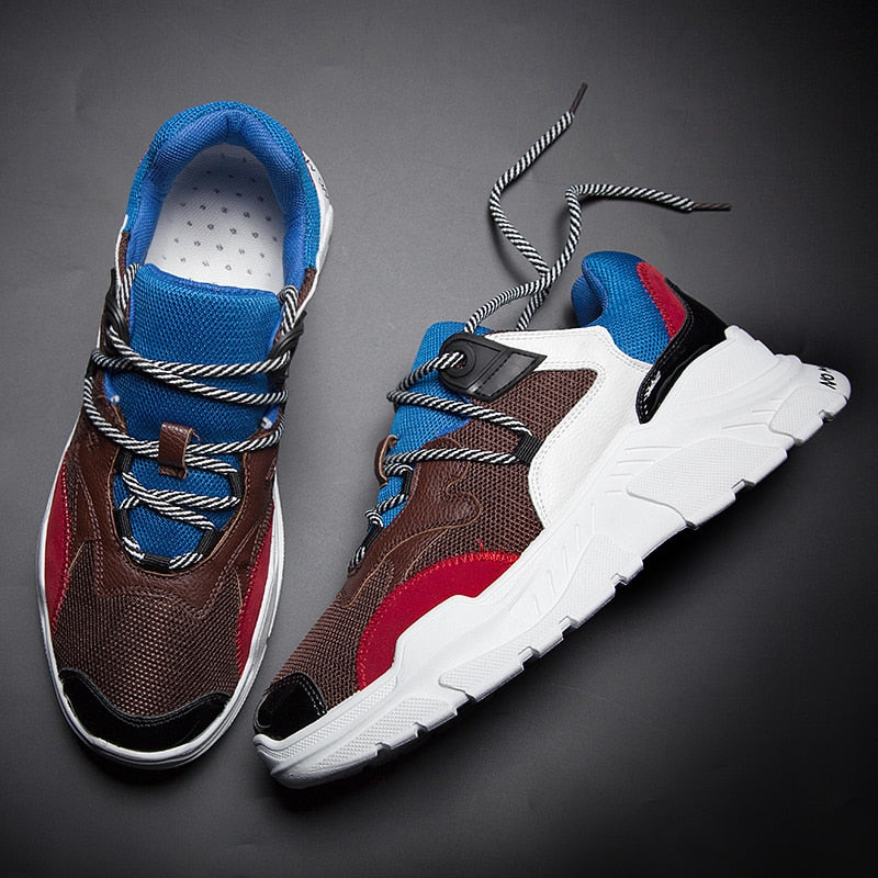 MERCY RX97 Chunky Leather/Mesh Sneakers - Multi