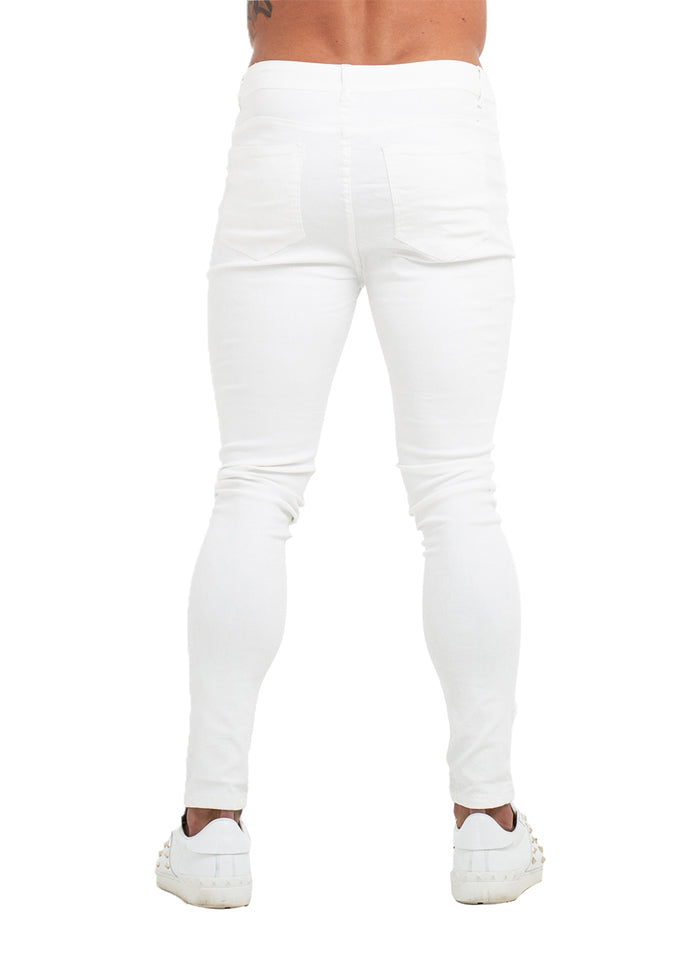 3755 Premium White Skinny Stretch Jeans