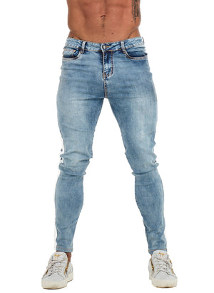 3761 Vintage Blue Side Stripe Skinny Stretch Jeans