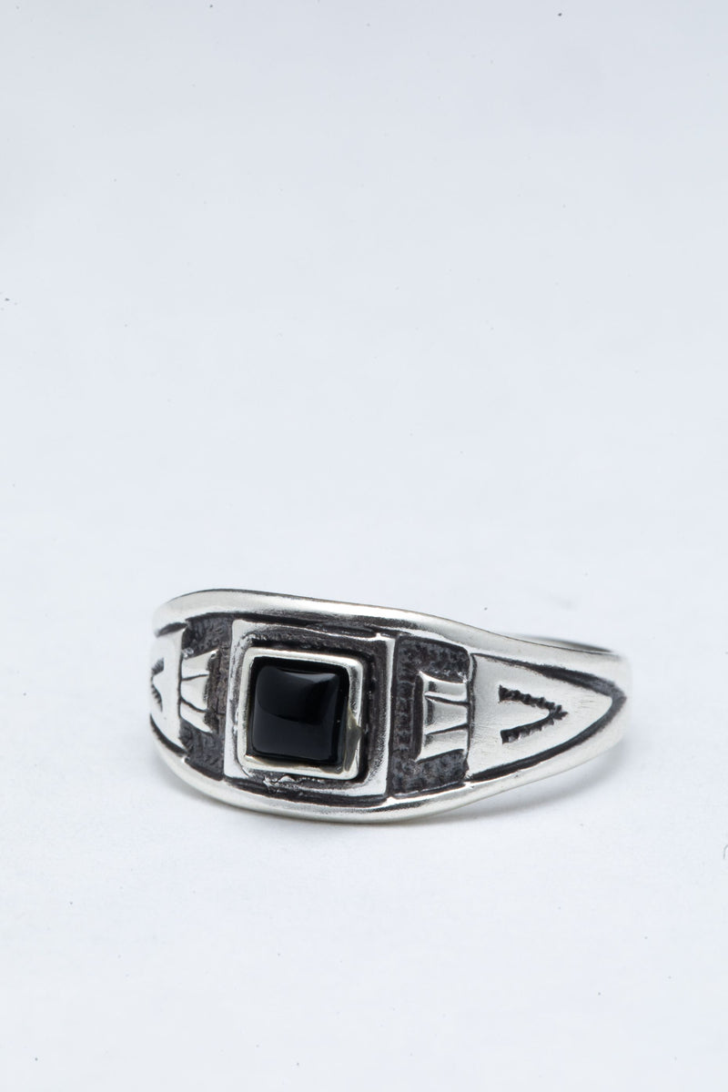CHEVRON // ONYX SIGNET RING