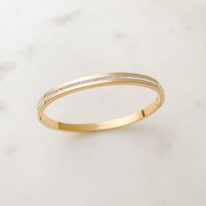Wrap Me in Crystals Bangle