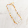 Mother of Pearl Gold Chain, Stainless Steel Bracelet