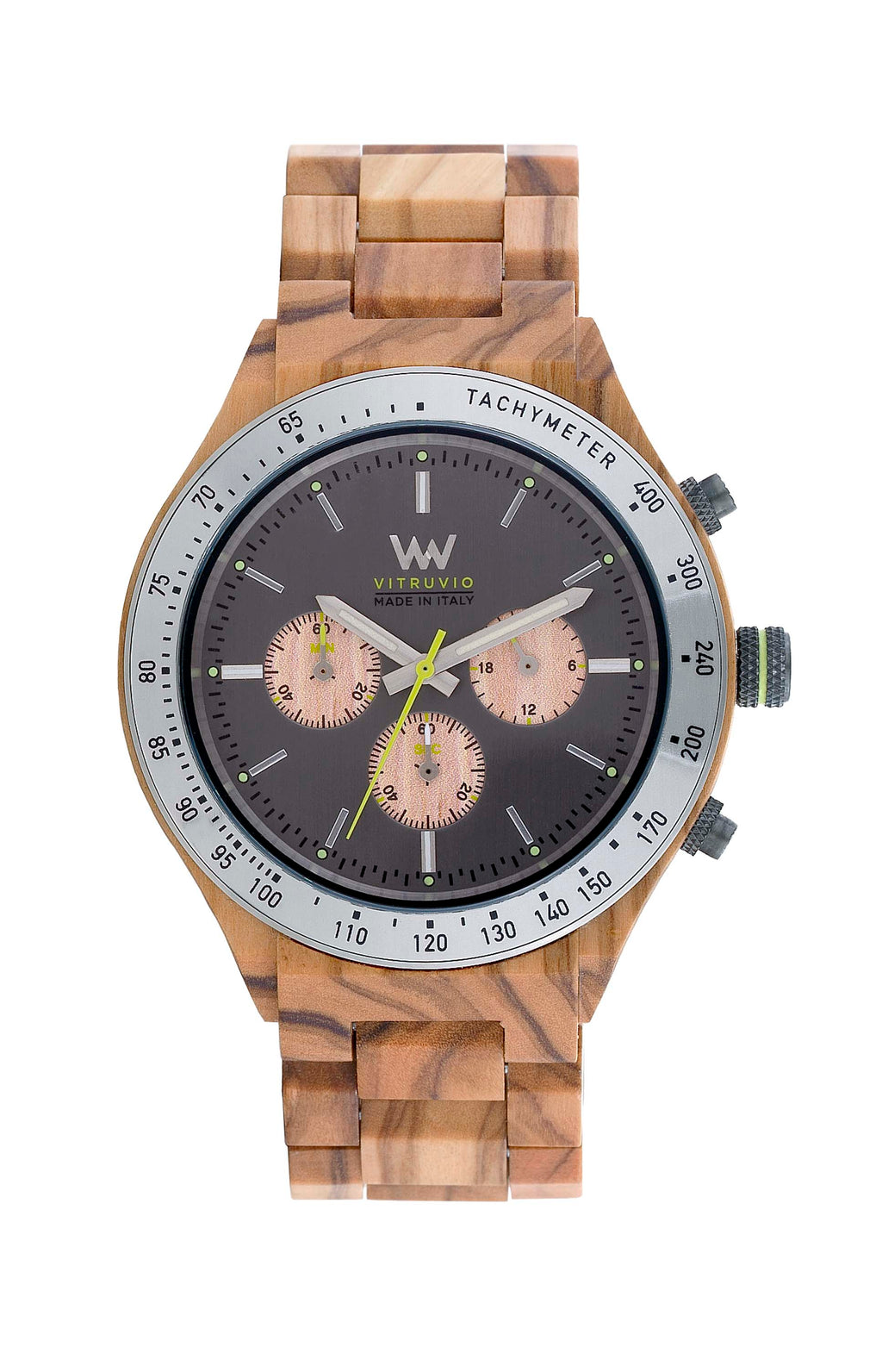 Vitruvio MB Olive Gun Wood WeWood Watch