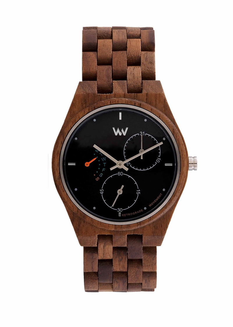 Rider Wood WeWood Watch - Nut Black