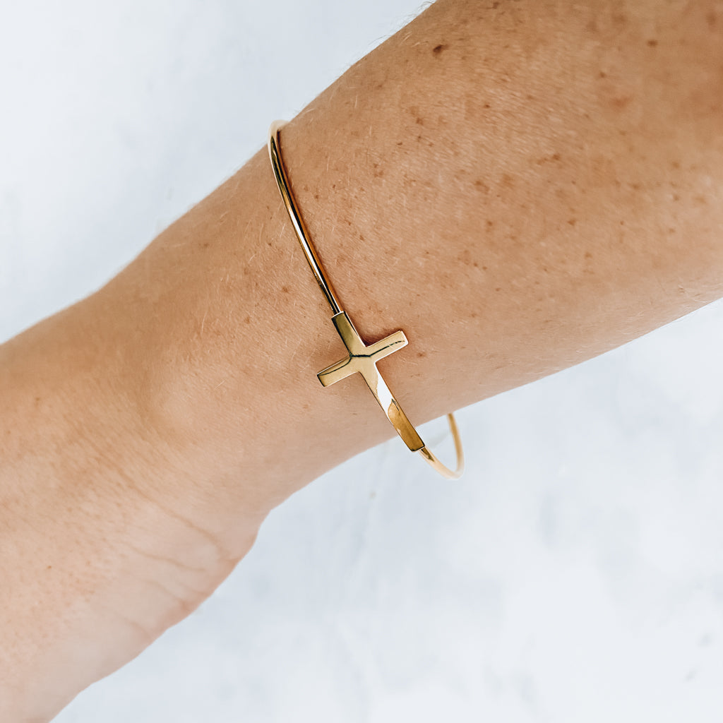 Minimal Cross Bangle