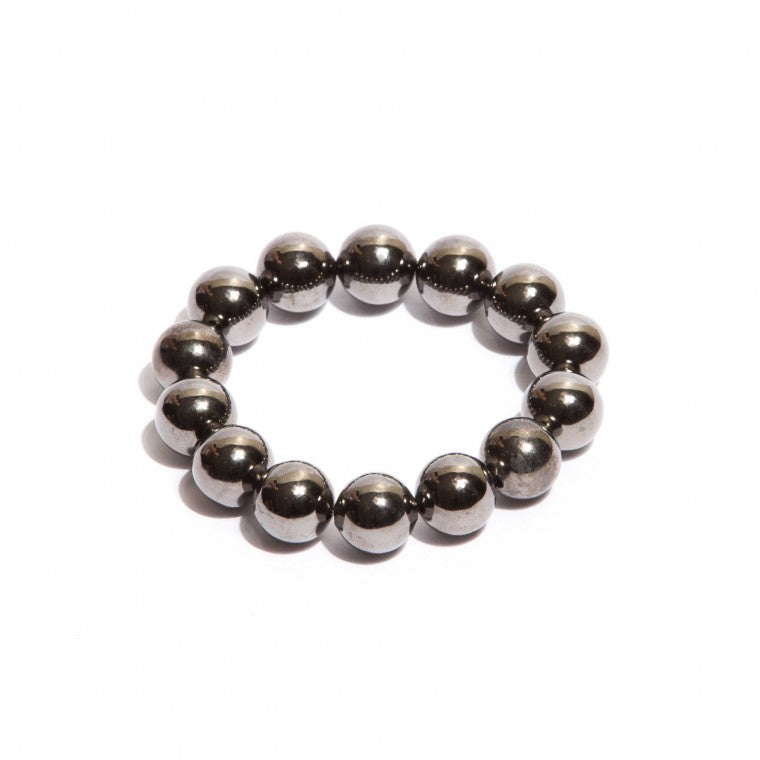 Graphite-Plated Spheres bracelet