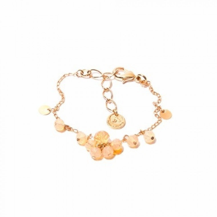 Bracelet with rose crystals and rose gold plated metals