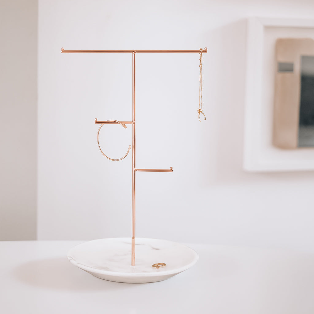 Large Rose-Gold Jewellery Stand