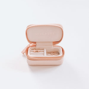 Blush Large Stackers + Petite Travel Jewellery Box