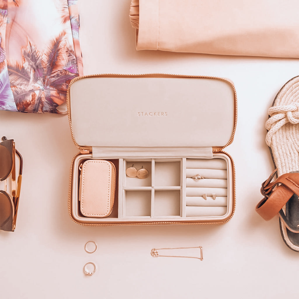 Stackers Large + Petite Travel Jewellery Box - Blush