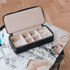 Black Stackers Large + Petite Travel Jewellery Box