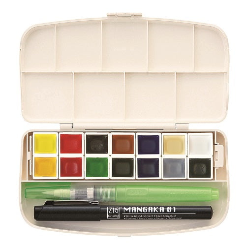 Gansai Tambi Portable 14 Colors Set with Brush and Pen- Out of Stock