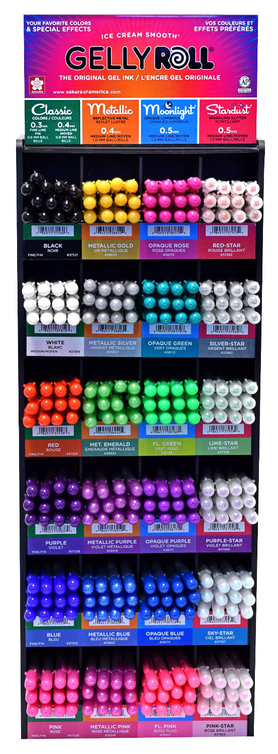 Gelly Roll World of Color 288 Piece Assortment Display