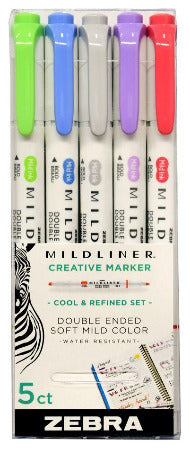Zebra Mildliner Double Ended Highlighter 5 Packs
