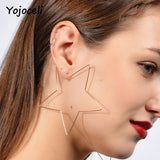 Yojoceli Star shape circle earrings round women accessories Fashion heart gold female accessories