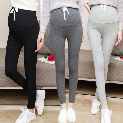 Pregnant women's pants autumn and winter wear new leggings thread trousers feet pregnant women stomach lift pants