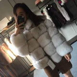 2018 thick autumn winter fur coat insulation stand collar strip coat faux fox fur grass women casual winter wear coat