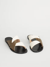 Load image into Gallery viewer, Allai Khaki Brown/Ice White Vacchetta