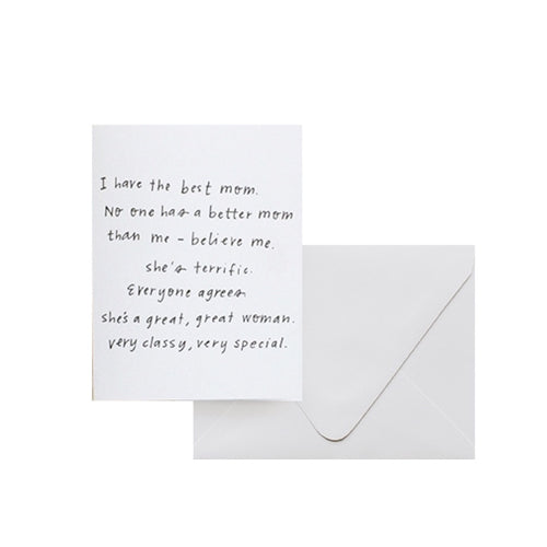 Letterpress Card - The Best Mom