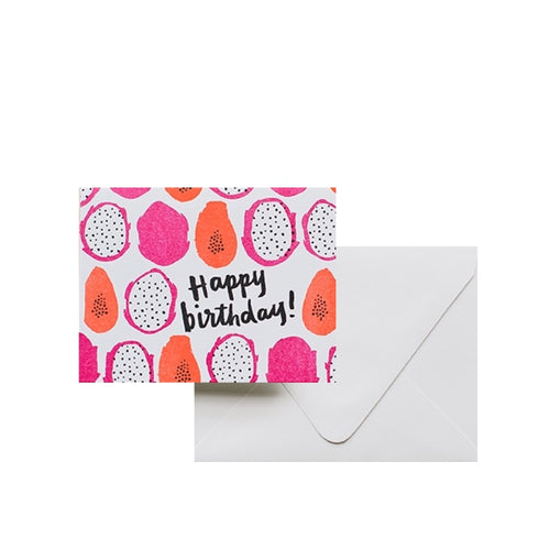 Letterpress Card - Papaya Card