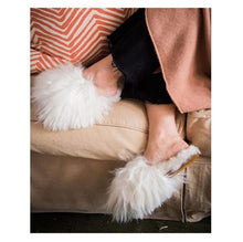 Load image into Gallery viewer, Suri Alpaca Slipper White