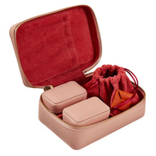 Load image into Gallery viewer, Amelia Leather Jewelry Case - 3 Piece Set