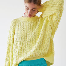 Load image into Gallery viewer, Cable Knit Crew Neck