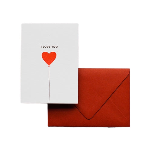 Letterpress Card - I Love You Balloon